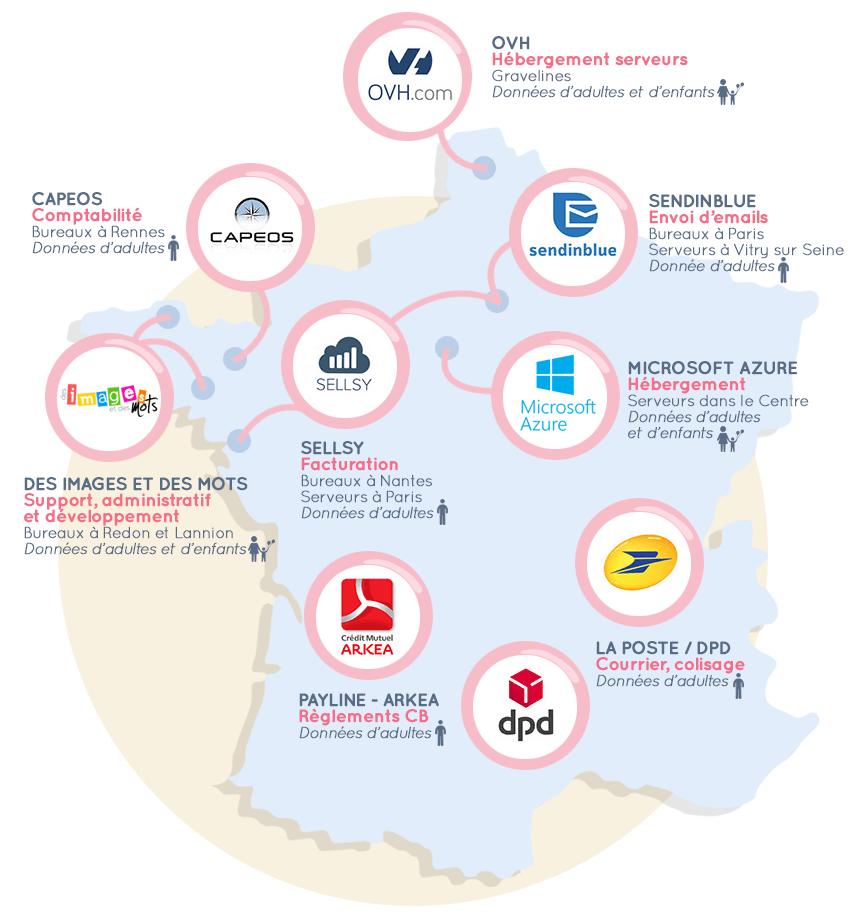 Carte des données